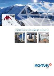 SyStèmeS de rangement 2011/2012 - MONTANA Sport International ...