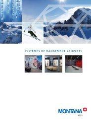SyStèmeS de rangement 2010/2011 - MONTANA Sport International ...