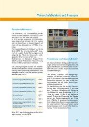 Wirtschaftlichkeit und Finanzen - Kinderdorf Berlin