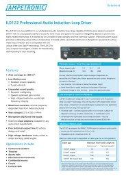 ILD122 Professional Audio Induction Loop Driver - Ampetronic