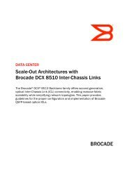 Scale-Out Architectures with Brocade DCX 8510 Inter-Chassis Links ...