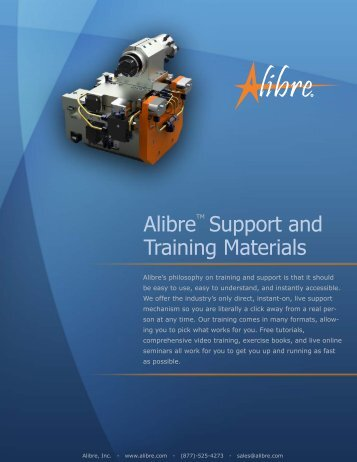 Alibre Support and Training Materials