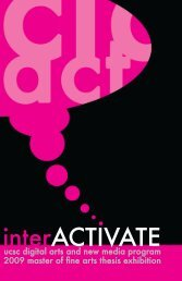 interACTIVATE - Digital Arts and New Media - University of ...