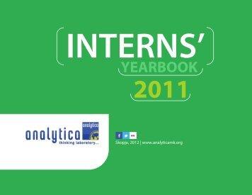 Analytica Interns' Yearbook 2011 - Analyticamk.org