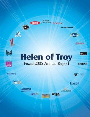 helen of troy ltd