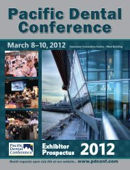 2012 PDC Exhibitor Prospectus - Pacific Dental Conference