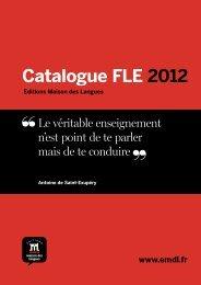 Catalogue FLE 2012 - Editions Maison des Langues