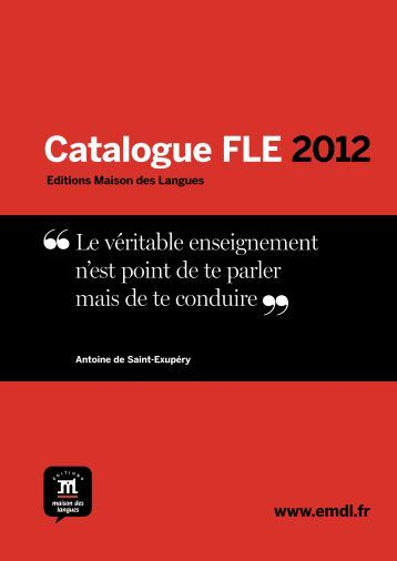 Catalogue FLE 2012 - Editions Maison des Langues