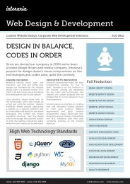 Custom Website Design, Corporate Web Development ... - Interaria
