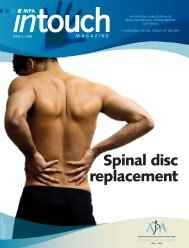 Spinal disc replacement - PhysioMax