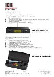 TXS-870 Empfänger - Eichmann Electronic AG
