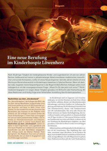Kinder- und Jugendarzt - Juli 2012.pdf - Kinderhospiz Löwenherz
