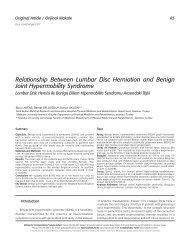 Relationship Between Lumbar Disc Herniation and Benign Joint ...