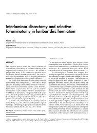 Interlaminar discectomy and selective foraminotomy in lumbar disc ...
