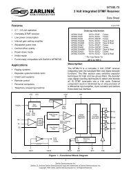 MT88L70 Data Sheet - Zarlink Semiconductor