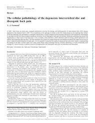 The cellular pathobiology of the degenerate intervertebral disc and ...