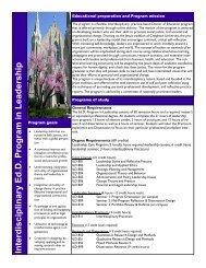 Interdisc iplinary Ed .D. Program in Lead ership - Creighton University