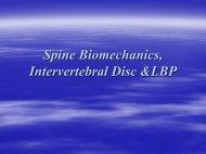 Spine Biomechanics, Intervertebral Disc &LBP - Wings
