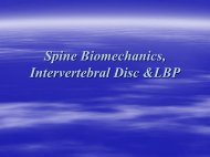 Spine Biomechanics, Intervertebral Disc &LBP - Wings