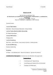 Niederschrift öffentlich - Sitzung 17.03.2009 Sitzung