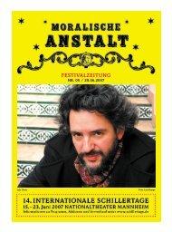 festivalzeitung nr. 05 / 20.06.2007 - Schillertage
