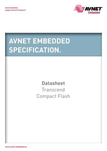 Transcend CF Datasheet - Avnet Embedded