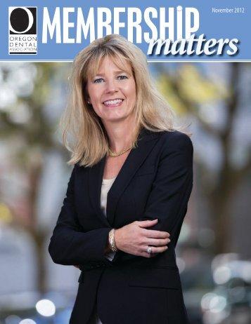 November 2012 - Oregon Dental Association