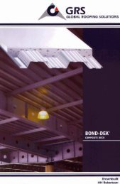 Bond-Dek Composite Deck by Global Roofing Solutions