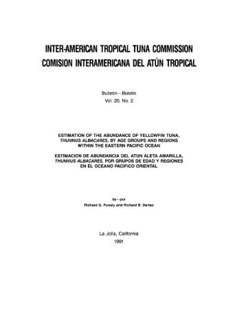 INTER-AMERICAN TROPICAL TUNA COMMISSION COMISION ...