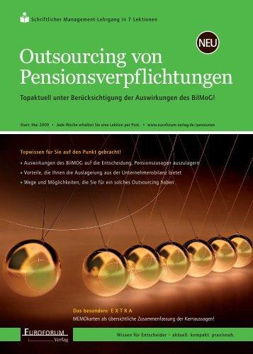 Outsourcing von Pensionsverpflichtungen