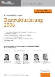 Restrukturierung 2006