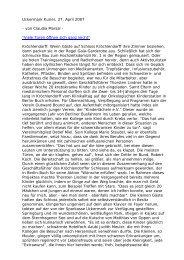 Artikel, UK, 27.04.07 - Kinderlaecheln-Förderverein für krebskranke ...