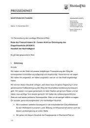13. Plenarsitzung des Landtags Rheinland-Pfalz Rede des ...