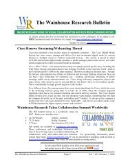 WR Bulletin Vol 7 Issue #35 5-Oct-06