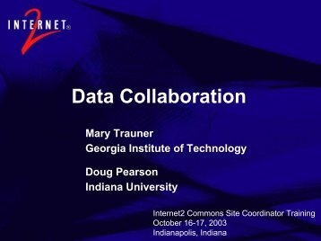 What is Data Collaboration? - Internet2