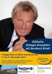 Exklusive Schlager-Kreuzfahrt mit Bernhard Brink! Busreise ab