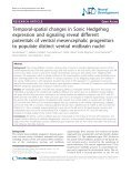 Temporal-spatial changes in Sonic Hedgehog expression and ... - Page 2