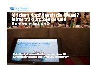 Infrastrukturprojekte und - Kommunikationskongress