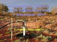 AGM Presentation, 7 December 2011 - Curnamona Energy