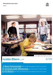 Ausgabe 6/2009 (PDF, 1 MB) - Bildungsdirektion - Kanton Zürich