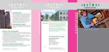 AUSBILDUNG AUSBILDUNG - Stiftung zur Palme