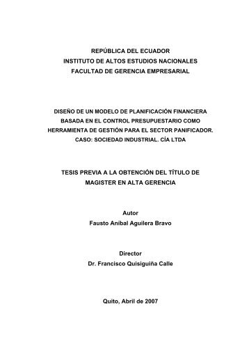 TESISI-FAUSTO AGUILERA.pdf - Repositorio Digital IAEN