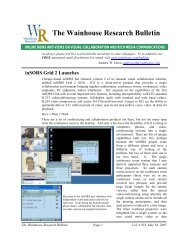 WR Bulletin Vol 6 Issue #18 18-May-05 - Wainhouse Research