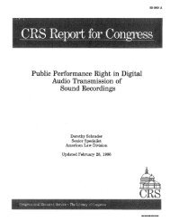 Public Performance Right in Digital Audio Transmission of