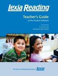 Teacher's Guide to the Student Software - msad75elementary