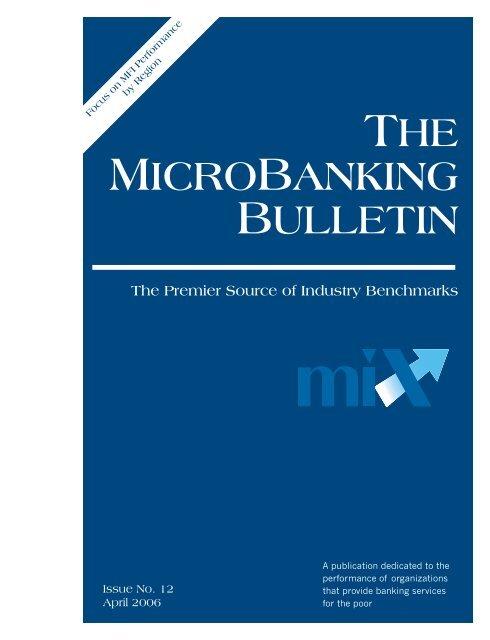 The Microbanking Bulletin