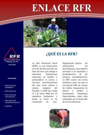 Boletín Enero 2012 - Red Financiera Rural