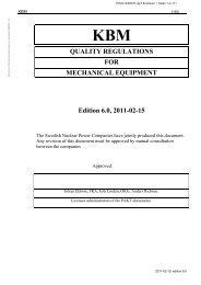 Quality Regulations for Mechanical Equipment - OKG