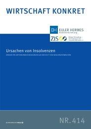 Wirtschaft Konkret Nr. 414 - Ursachen von Insolvenzen