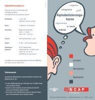 Lernen Verstehen Sprechen Alphabetisierungs- kurse - ECAP
